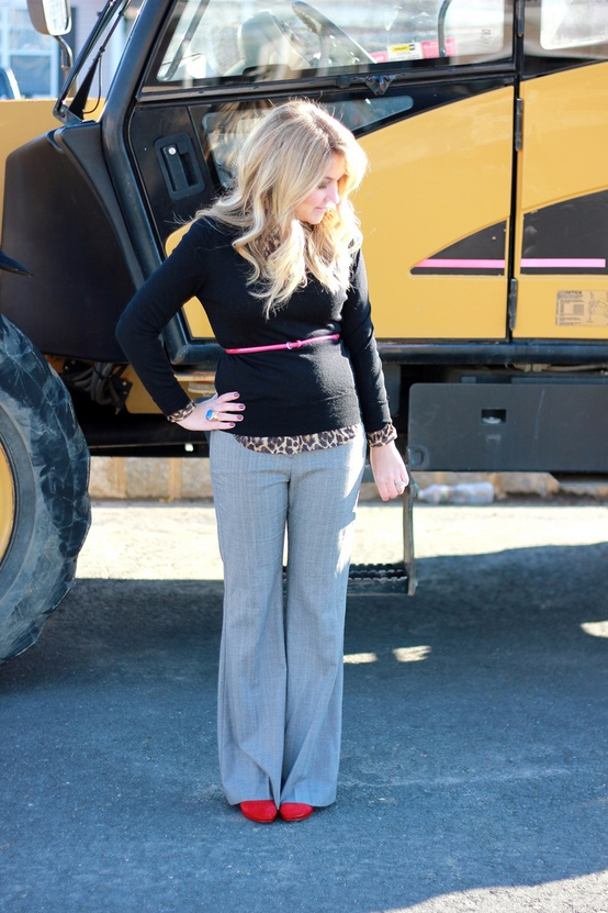 Pinspiration.tight top wide pants