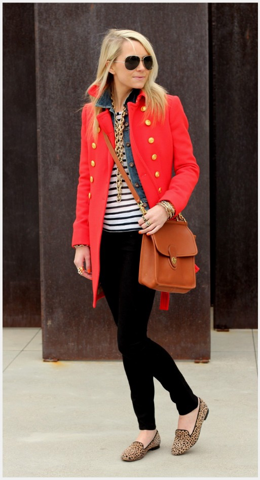 pinspiration.red coat and stripes
