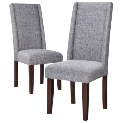 charlie modern wingback dining chair