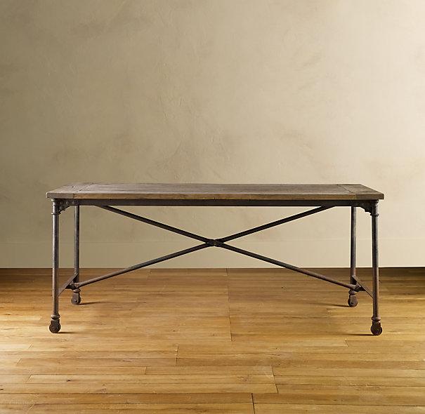 restoration hardware flatiron desk