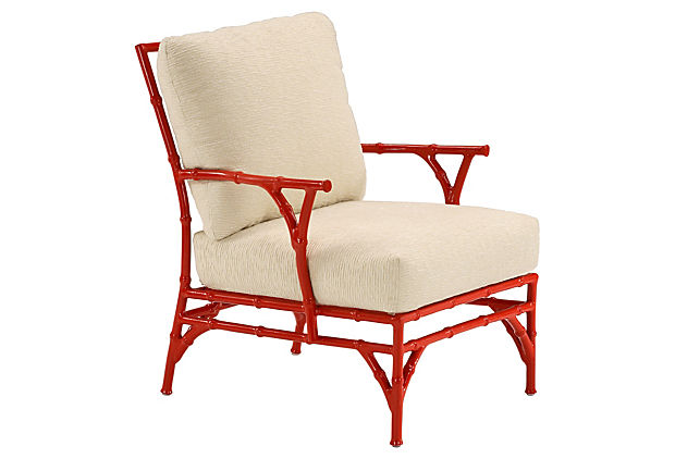 Bamboo Chair Red