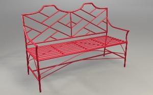 bamboo settee red