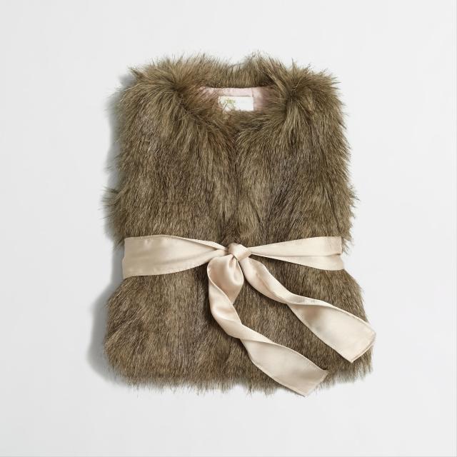 J Crew Faux Fur vest kids