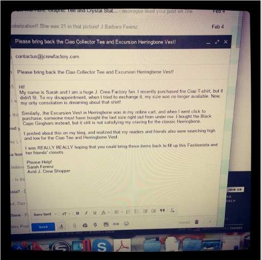 J Crew Email