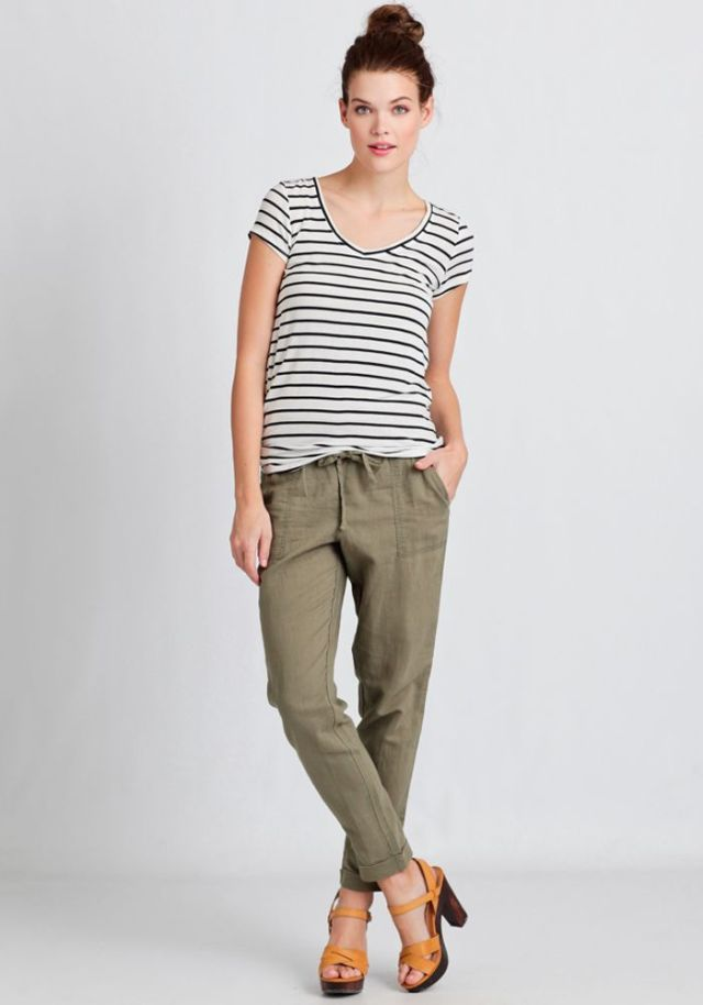 stripes and army green