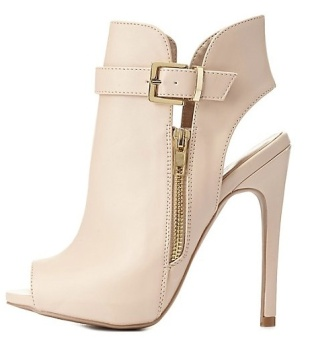 charlotte russe.belted zip-up booties