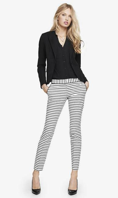 express.stripe columnist pant