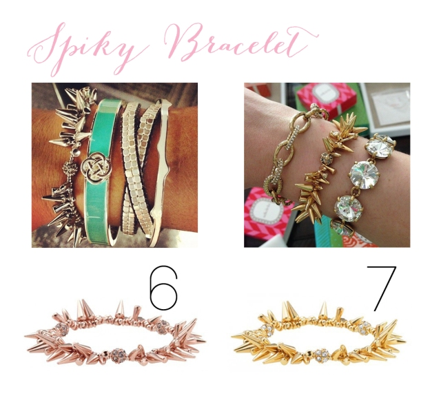 spiky bracelet only