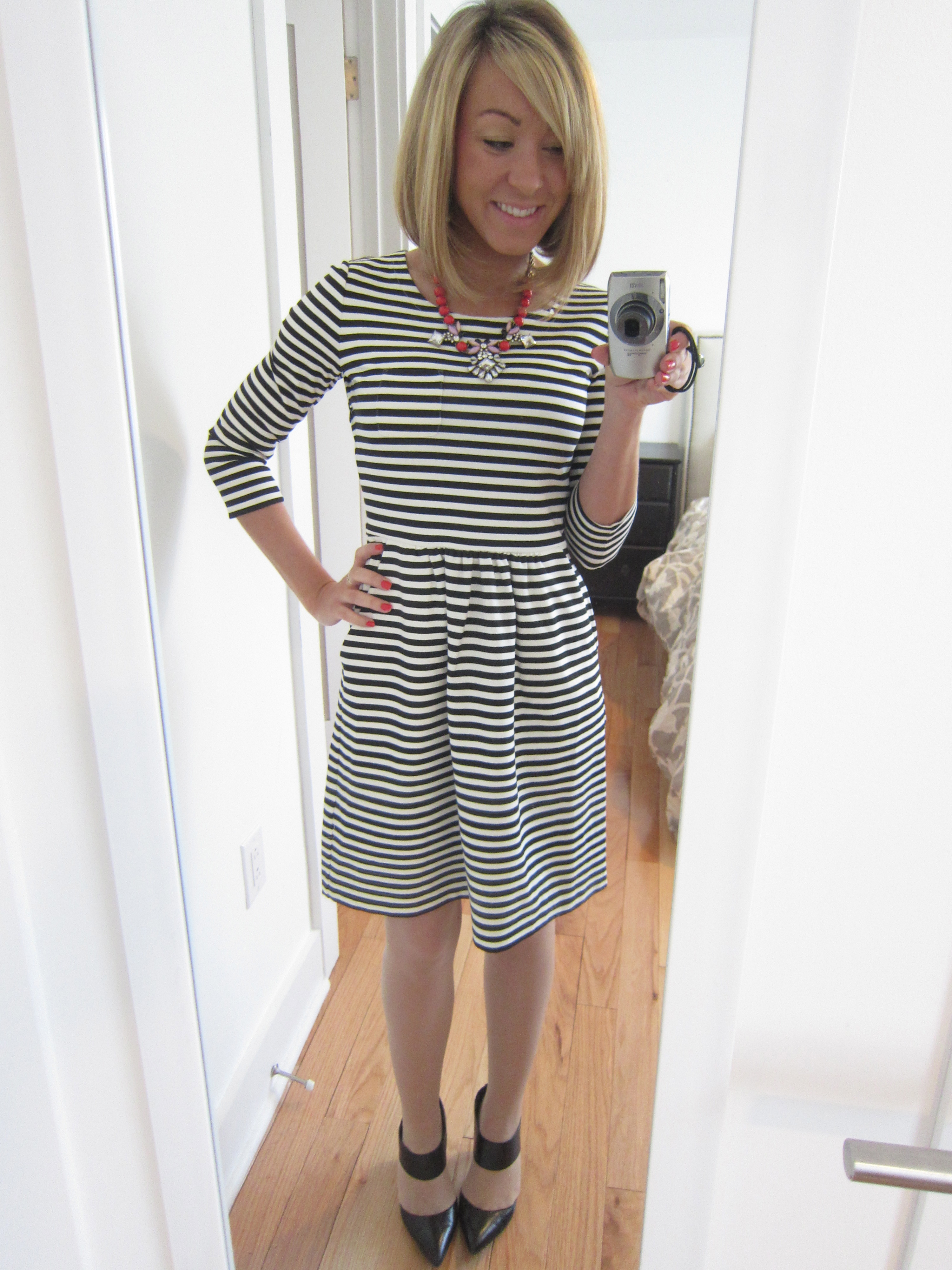 fa36c656dfc Striped Dress  J Crew Factory (scored on their 50% off EVERYTHING sale last  week!!!)