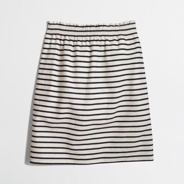 J Crew Factory striped skirt
