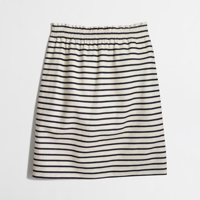 J Crew Factory striped skirt