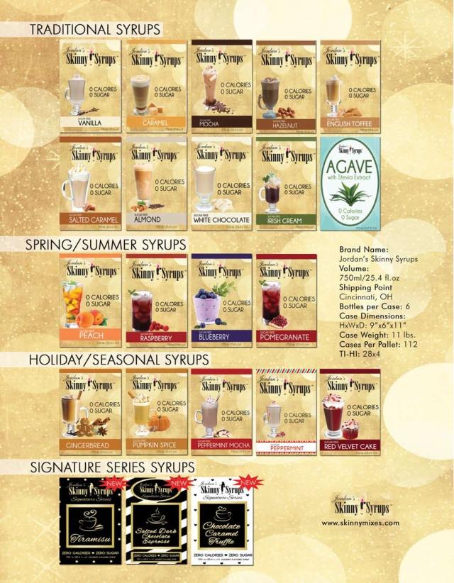 Jordan's Skinny Syrup Flavors