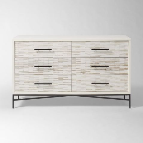west elm.wood tiled dresser