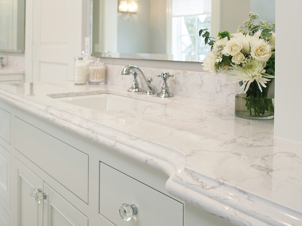 White Marble Countertops Look Stone