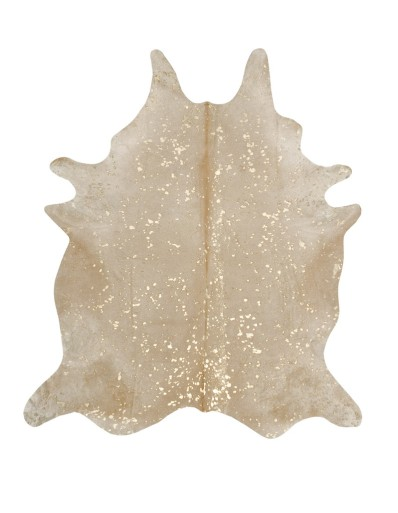 Cowhide Imports.Metallic Gold on Beige