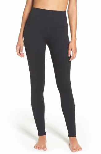fb2cdb88200e27 Apparently, the original Zella Live In High Waist Leggings are the perfect  length for petite girls. Perfect! I'm 5′-2″!